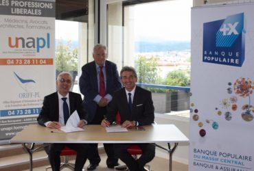 Signature convention UNAPL Auvergne – Banque populaire du Massif Central